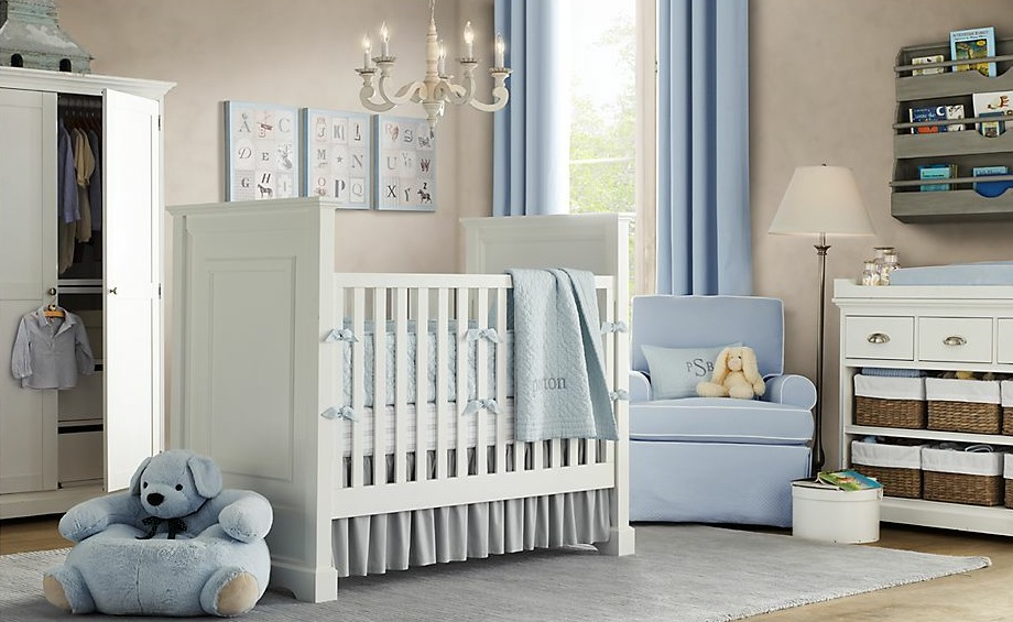 White-blue-baby-boys-room