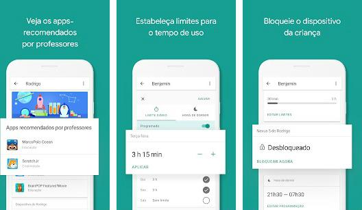 aplicativos para monitorar os filhos google family link