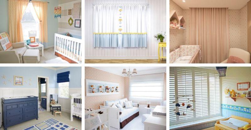 cortina do quarto do bebê como escolher