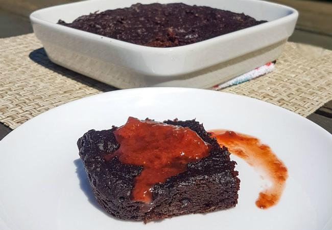 páscoa saudável brownie